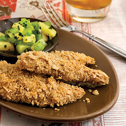 Tortilla Chip-Crusted Chicken
