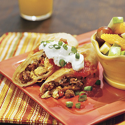 Over-the-Border Breakfast Sausage Wraps
