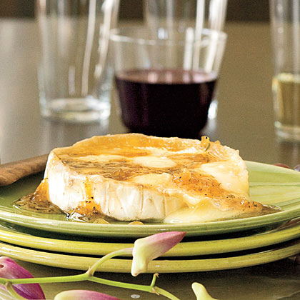 Warm Brie With Ginger-Citrus Glaze