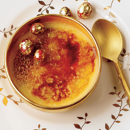 White Chocolate-Cranberry Creme Brulee
