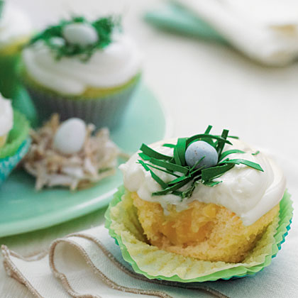 Pineapple-Coconut Cupcakes with Buttermilk-Cream Cheese Frosting