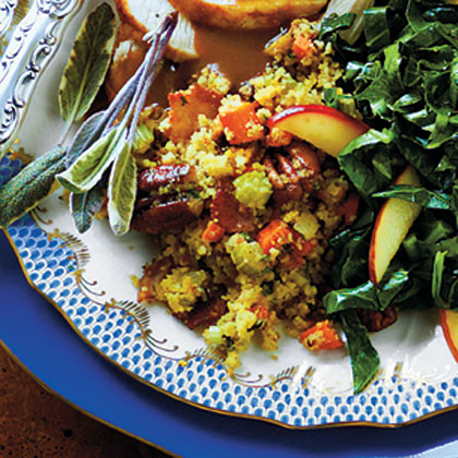 Cornbread Dressing with Smoked Bacon and Pecans