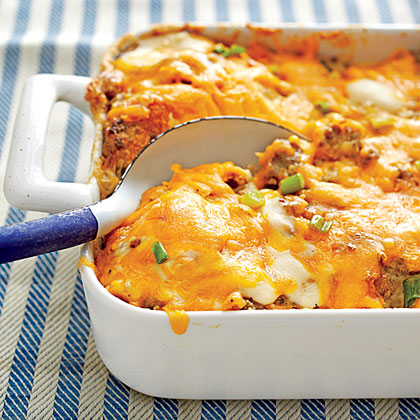 Sausage, Biscuit, and Gravy Bake