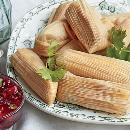 Cheesy Thanksgiving Tamales