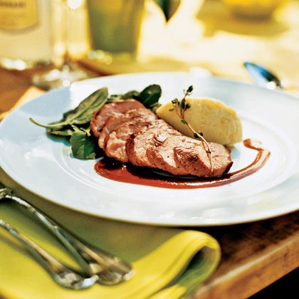 Thyme-Roasted Duck Breast with Orange-Wine Sauce