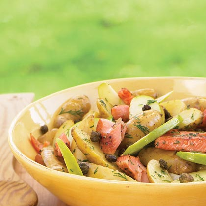 Warm Fingerling Potato and Smoked Trout Salad