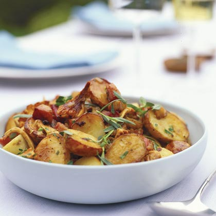 Chanterelle-Potato Salad with Pancetta, Shallots, and Thyme