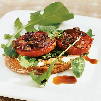 Roasted Roma Tomatoes on Toast