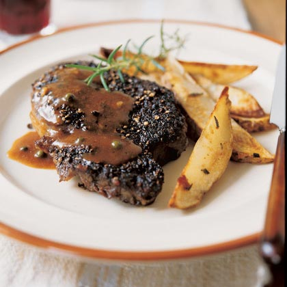 Green Peppercorn-Brandy Sauce