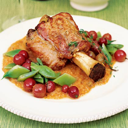 Braised Veal Shanks with Romano Beans