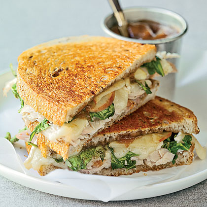 Toasted Turkey, Brie, and Apple Sandwiches