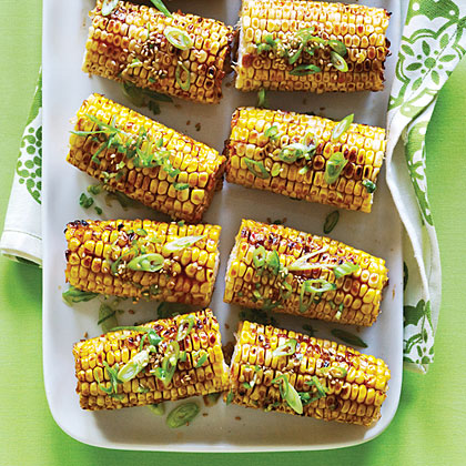 Spicy Hoisin and Sesame Glazed Corn