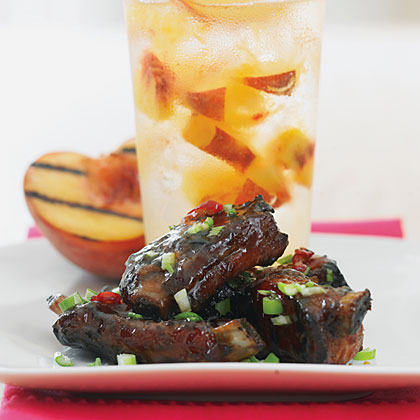 Peach and Ginger Glazed Riblets
