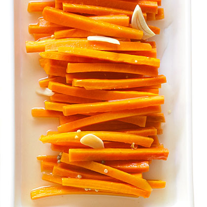 Mustard and Ginger Pickled Carrots