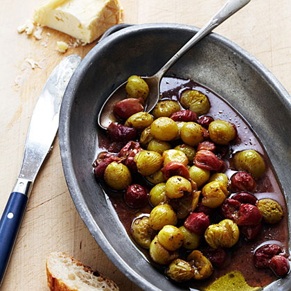 Roasted Grapes with Oozy Cheese