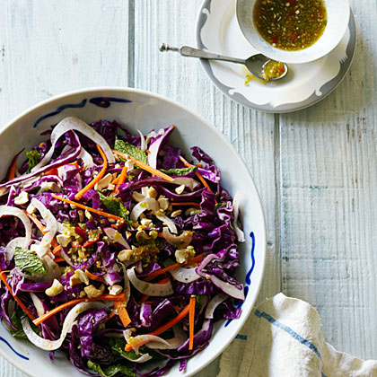 Cabbage, Cashew, and Fennel Salad