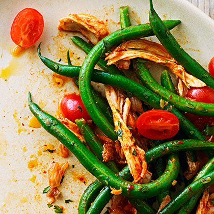 Korean-Style Chicken and Green Bean Salad