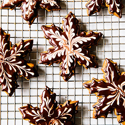 Chocolate Gingerbread Snowflakes
