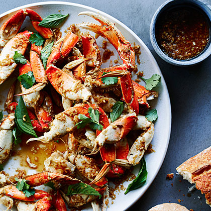 Cracked Crab with Lemongrass, Black Pepper, and Basil