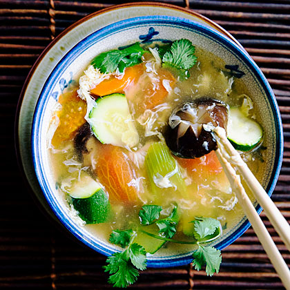 Vegetable Egg-Drop Soup