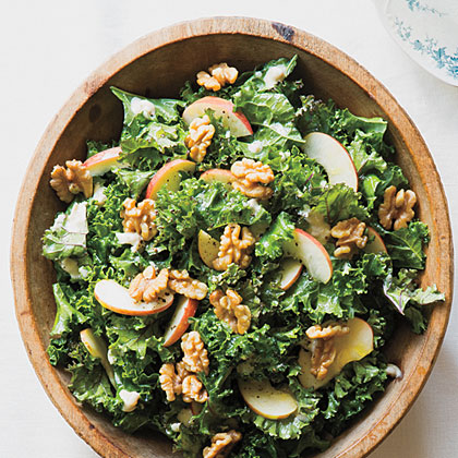 Kale and Apple Salad with Walnut Dressing