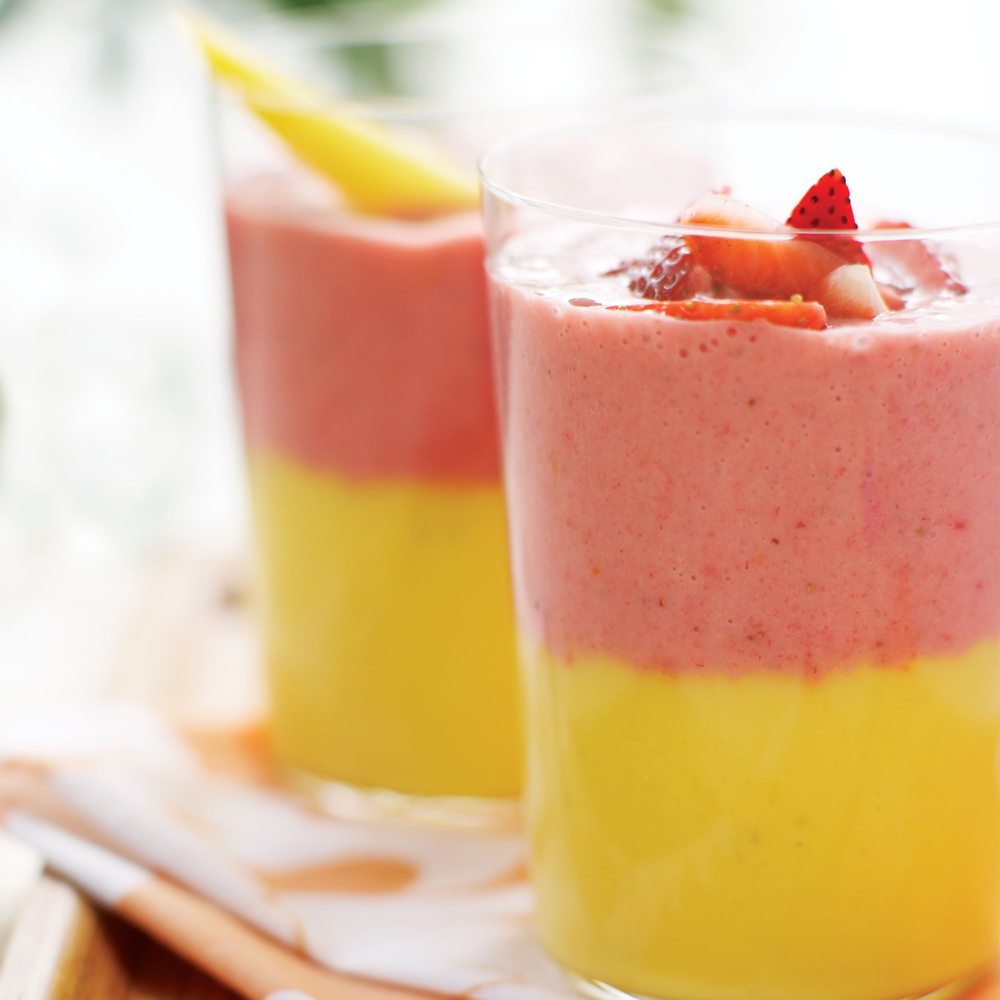 Layered Fruit Smoothie