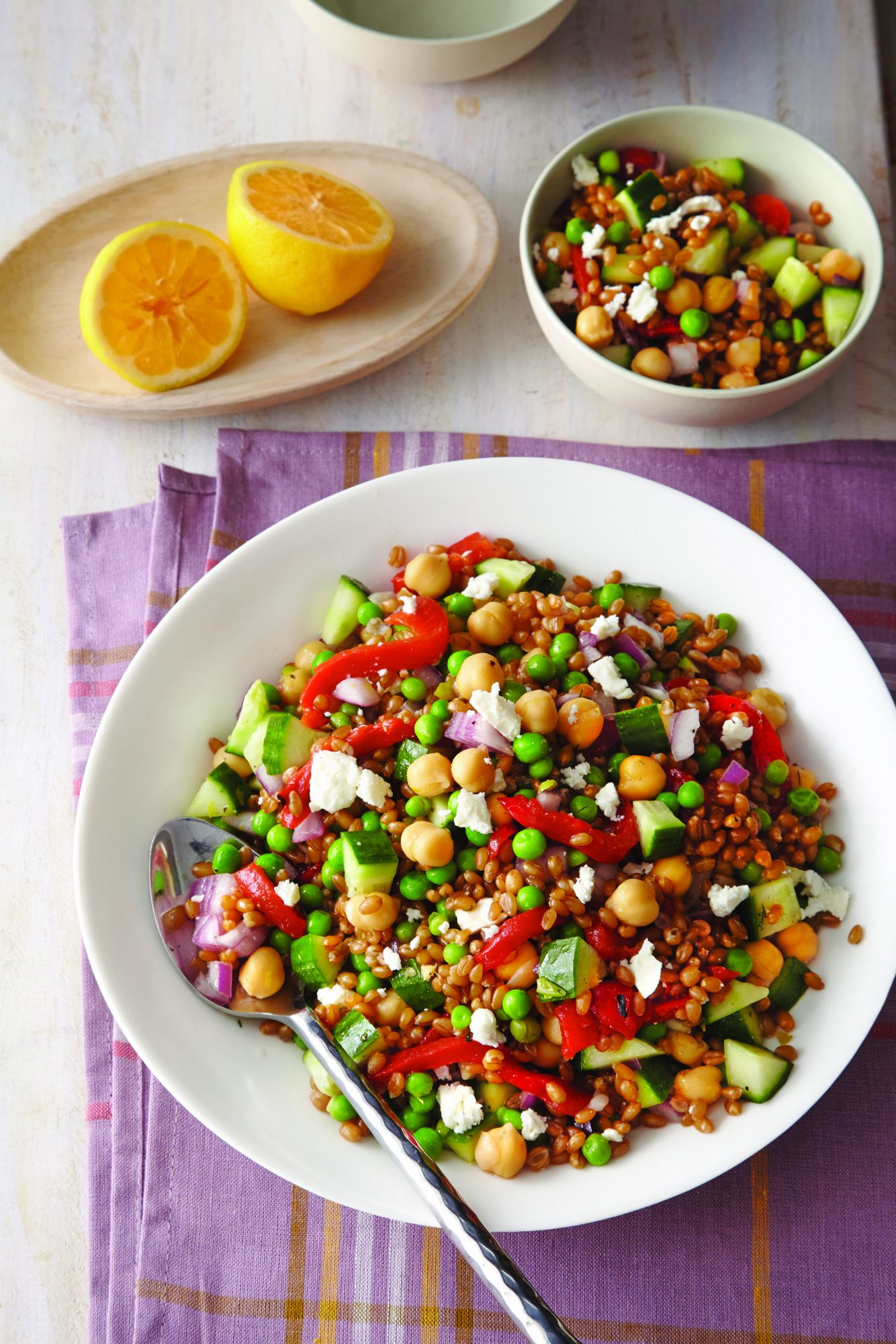 Lemon, Wheat Berry, and Chickpea Salad