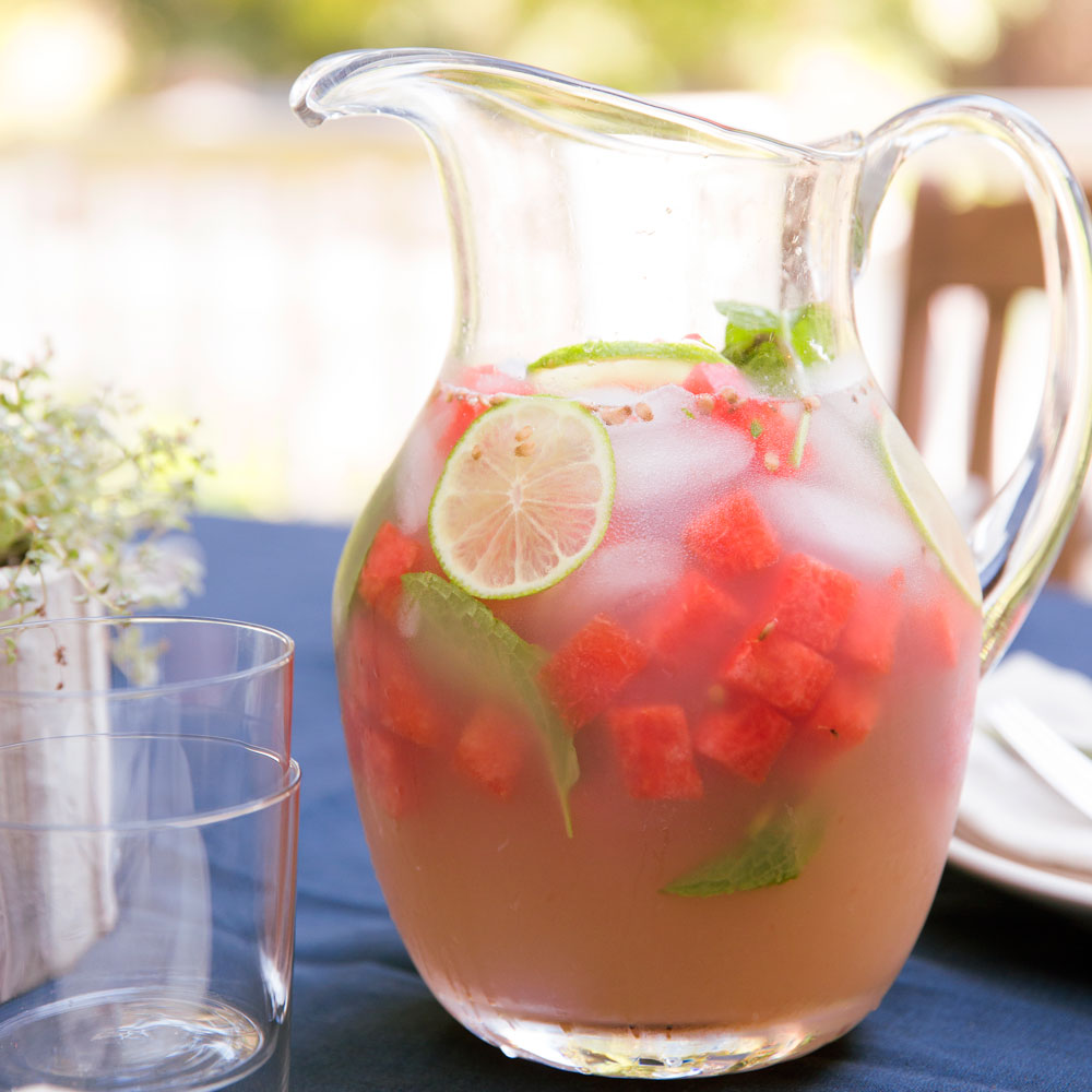 Lime Agua Fresca with Watermelon