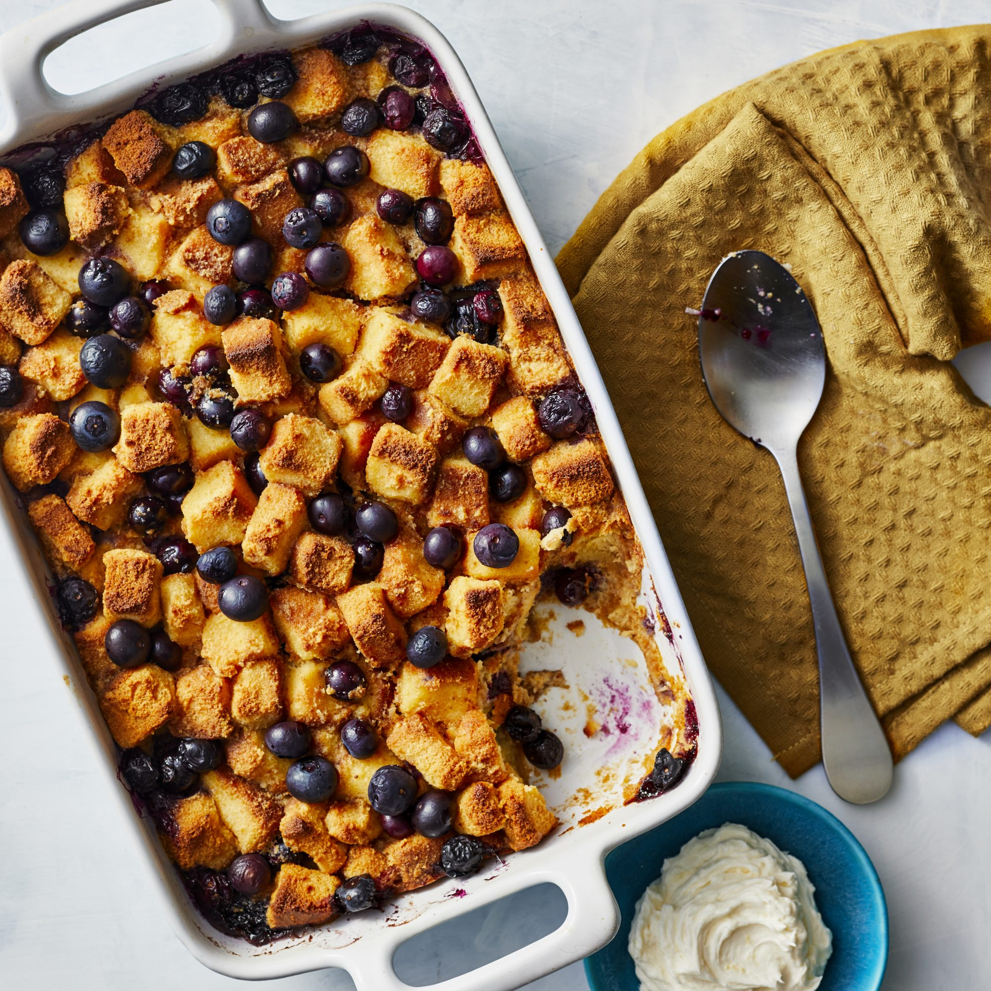 Blueberry Bread Pudding With Lemon Hard Sauce image