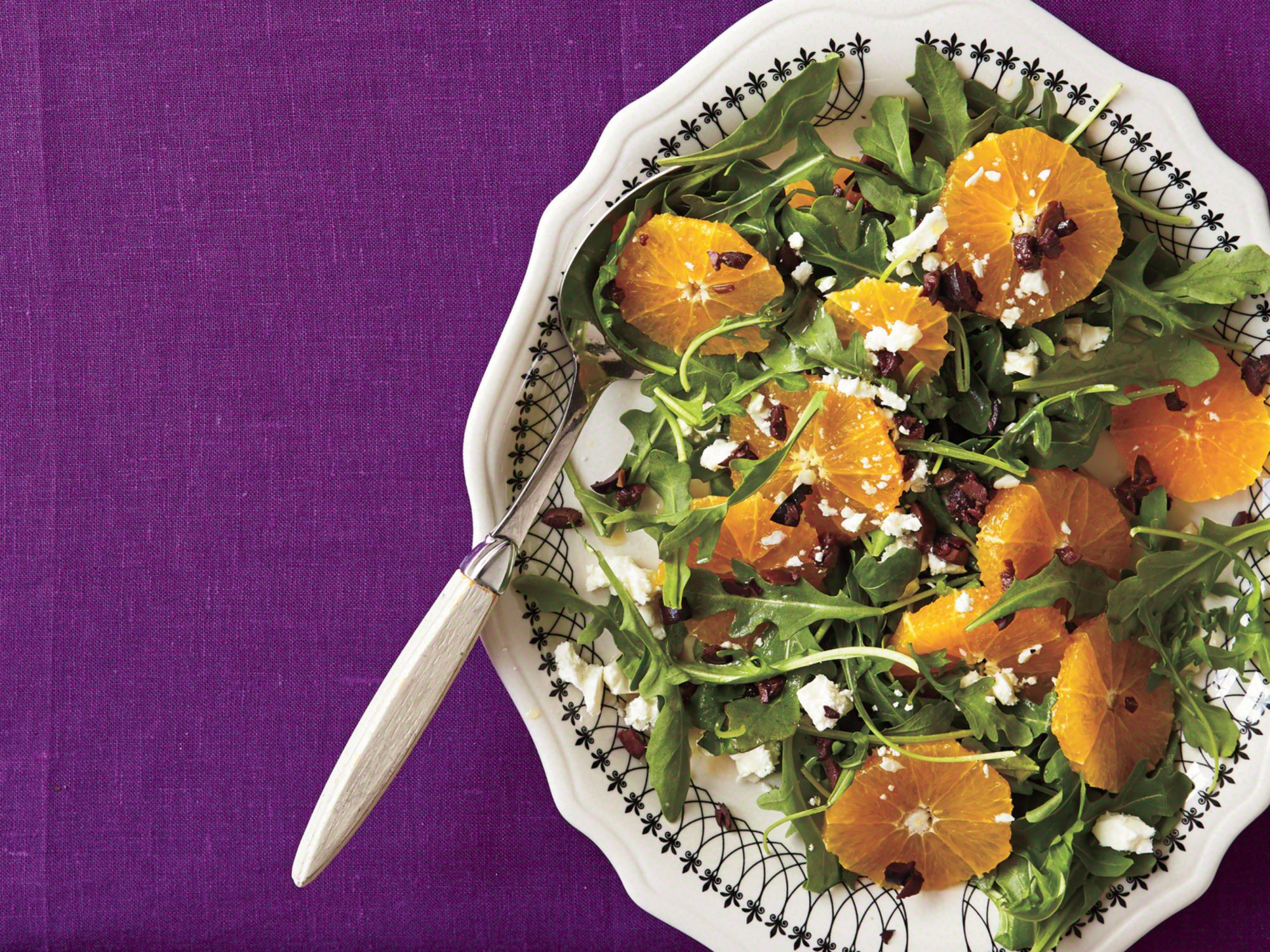 Orange-and-Black Salad Platter