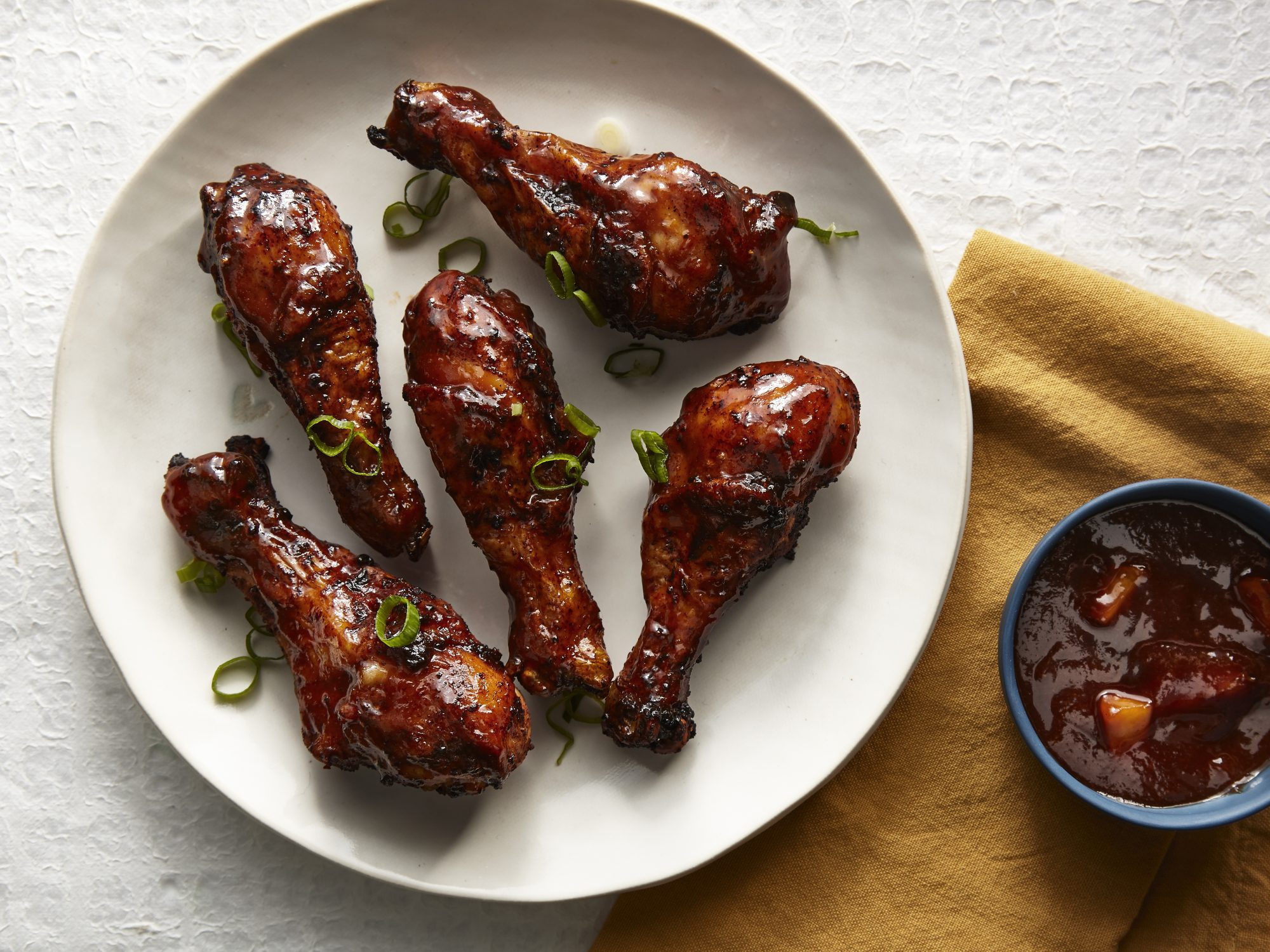 Oven Fried Chicken Drumsticks With Peach Barbecue Sauce Recipe