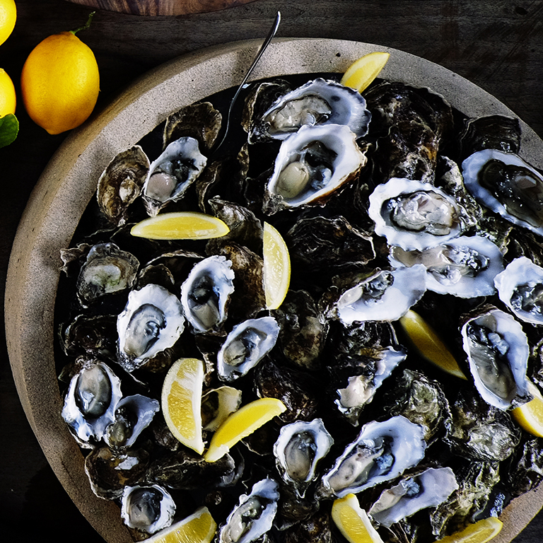 Oysters with Verjus Mignonette