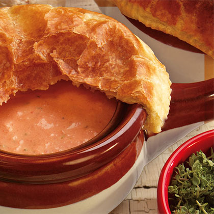 Tomato Soup in Puff Pastry