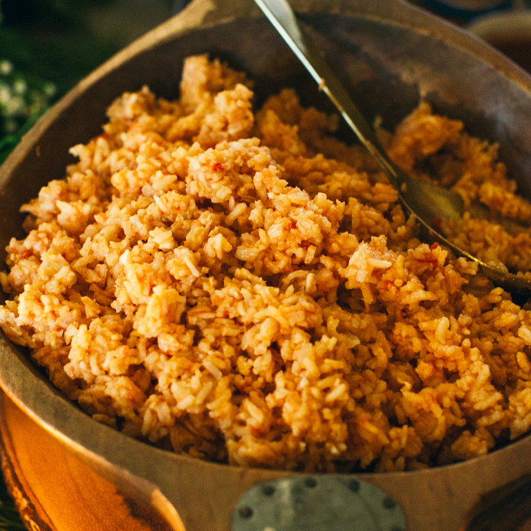 Rice with Tomato and Onion (Arroz Rojo)