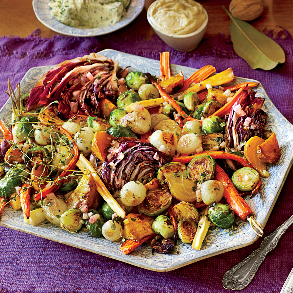 Roasted Vegetable Salad with Apple Cider Vinaigrette