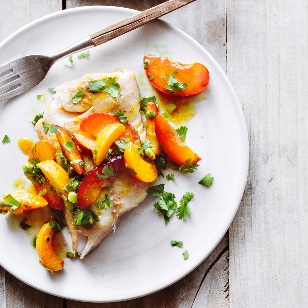 Sablefish with Stone Fruit Salsa