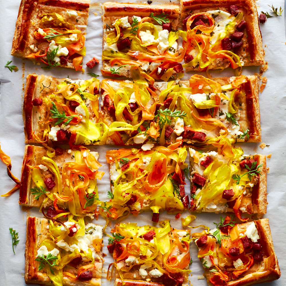 Savory Carrot Ribbon Tart