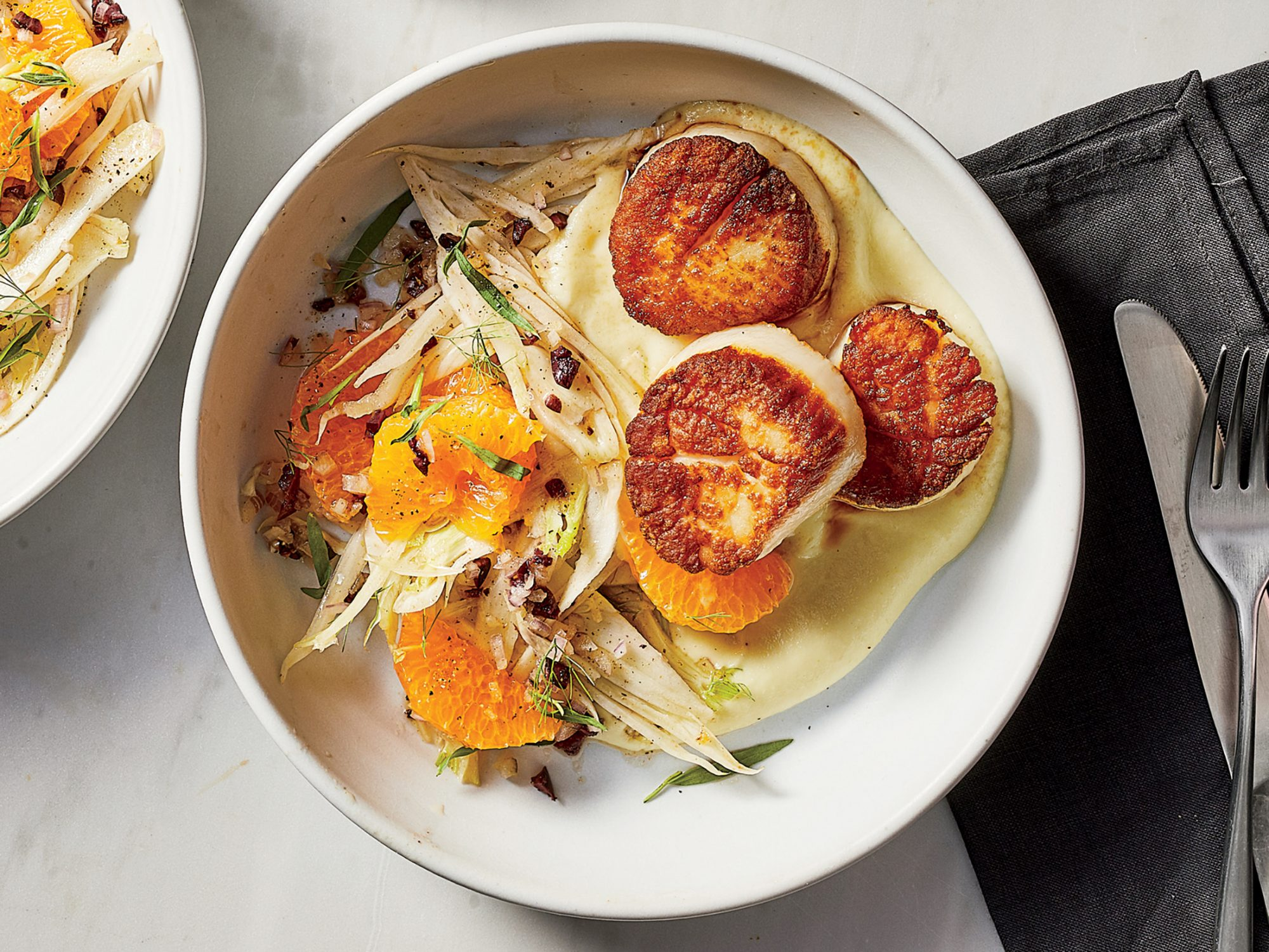 Seared Scallops with Fennel and Citrus