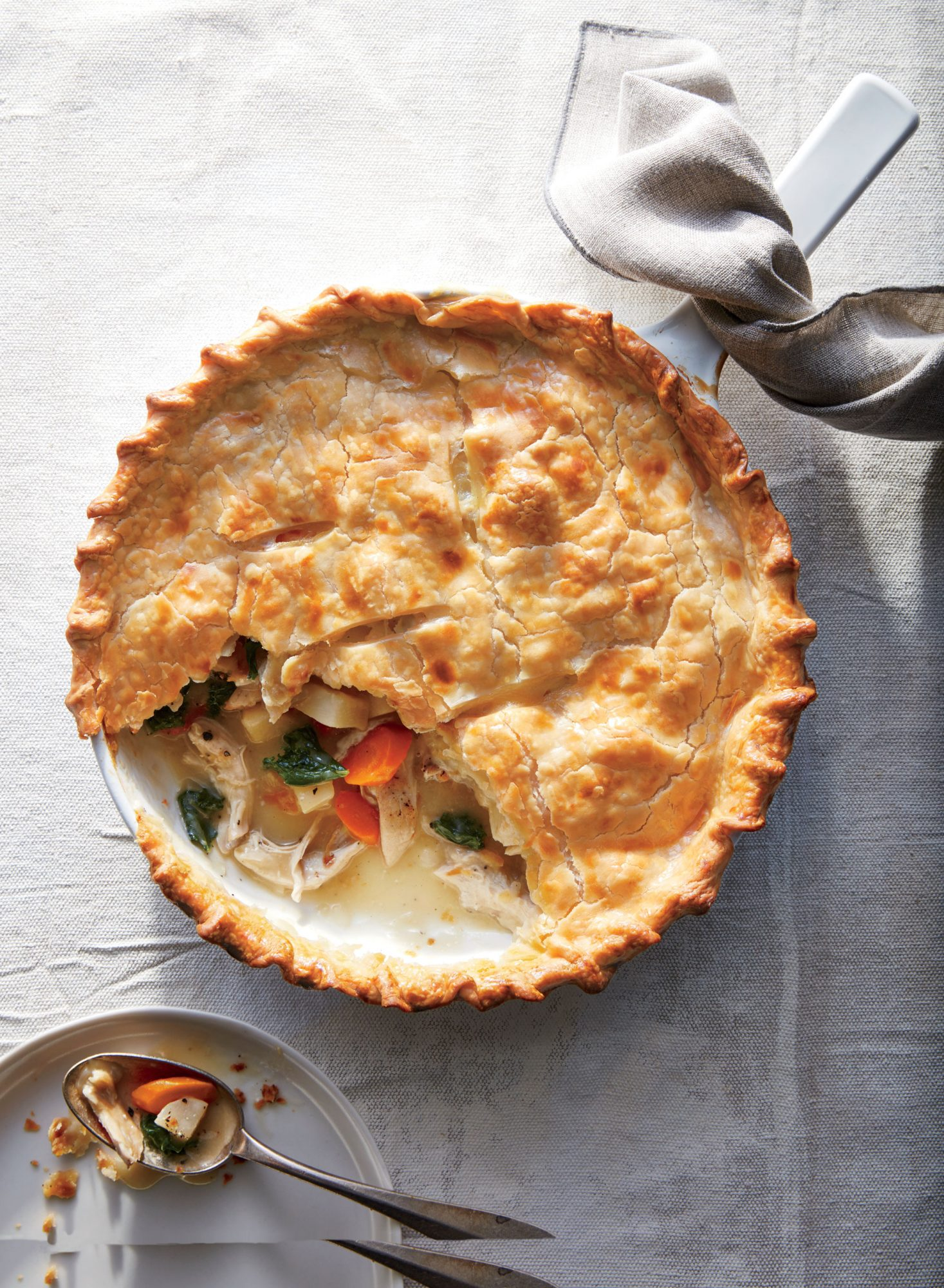 Skillet Chicken and Root Vegetable Potpie image