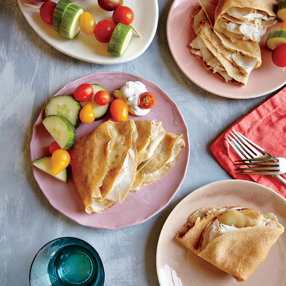 Smoked Turkey and Swiss Crepes