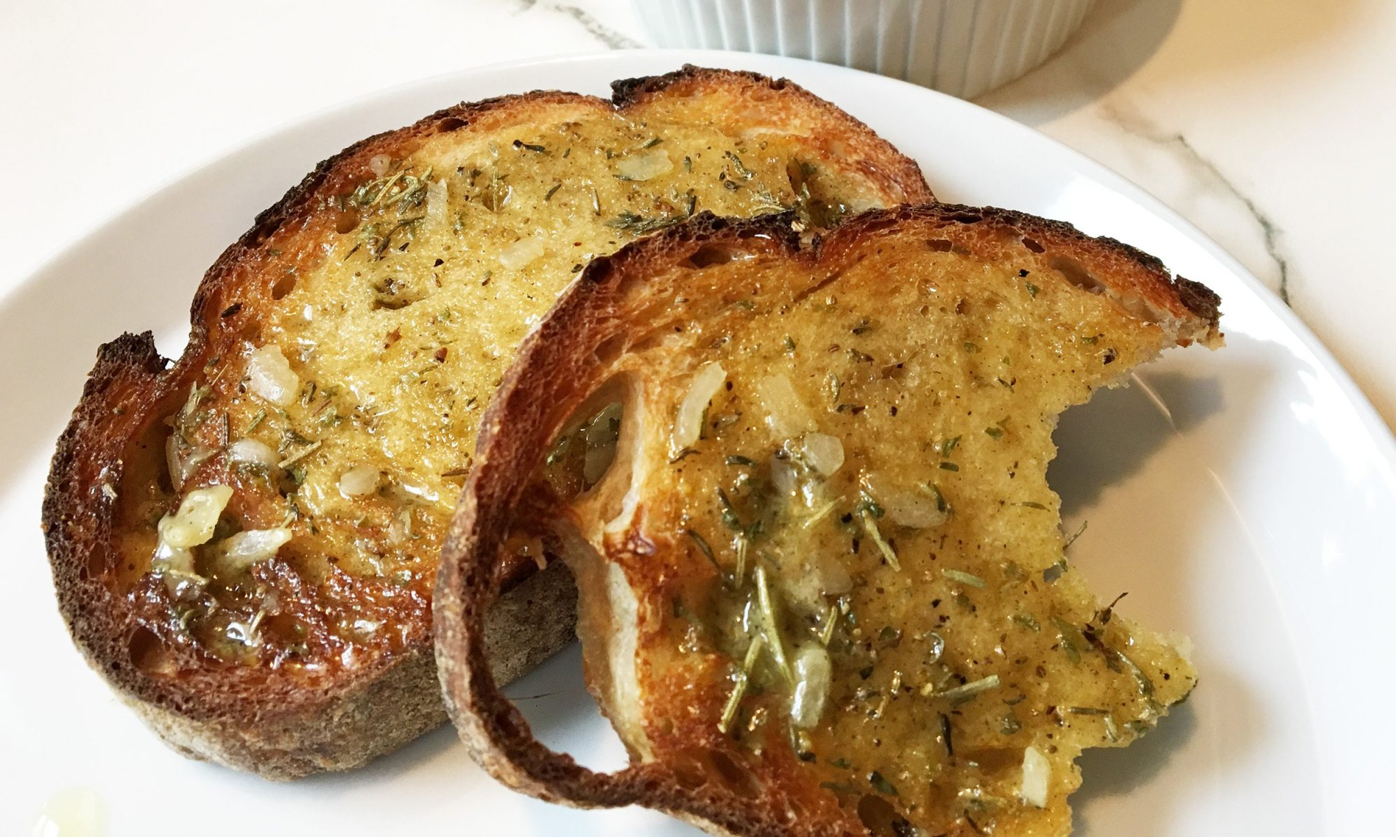 stuffing butter toast