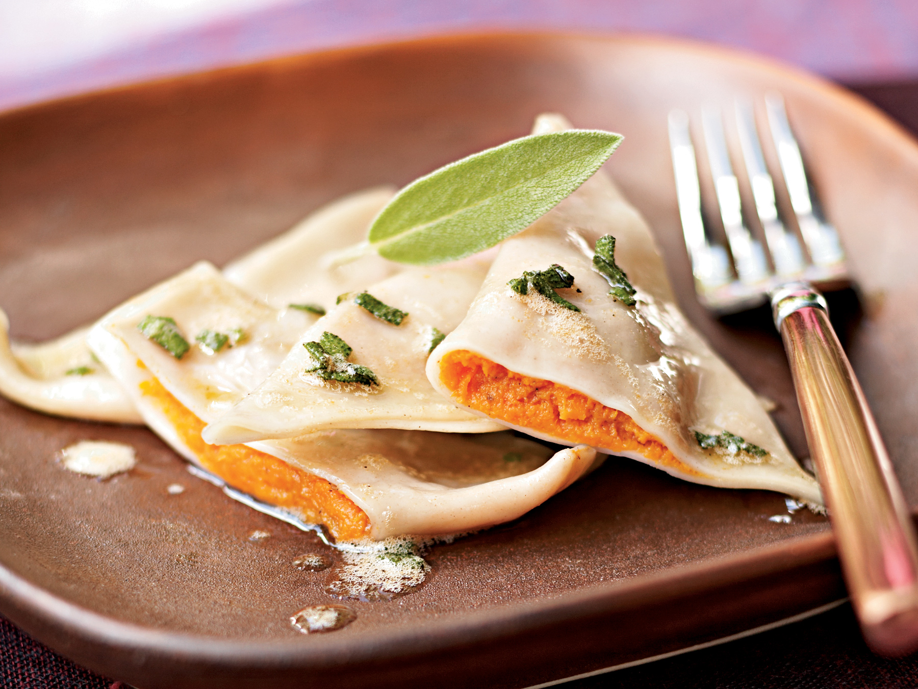 Sweet Potato Ravioli with Lemon-Sage Brown Butter