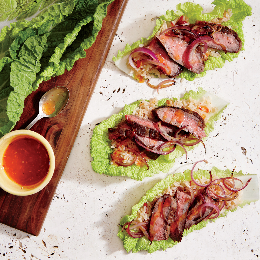 Thai Beef Cabbage Wraps