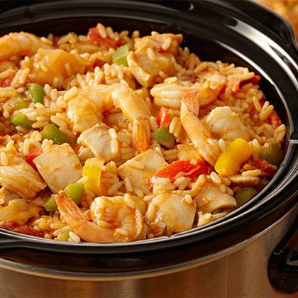 Slow Cooker Chicken Jambalaya