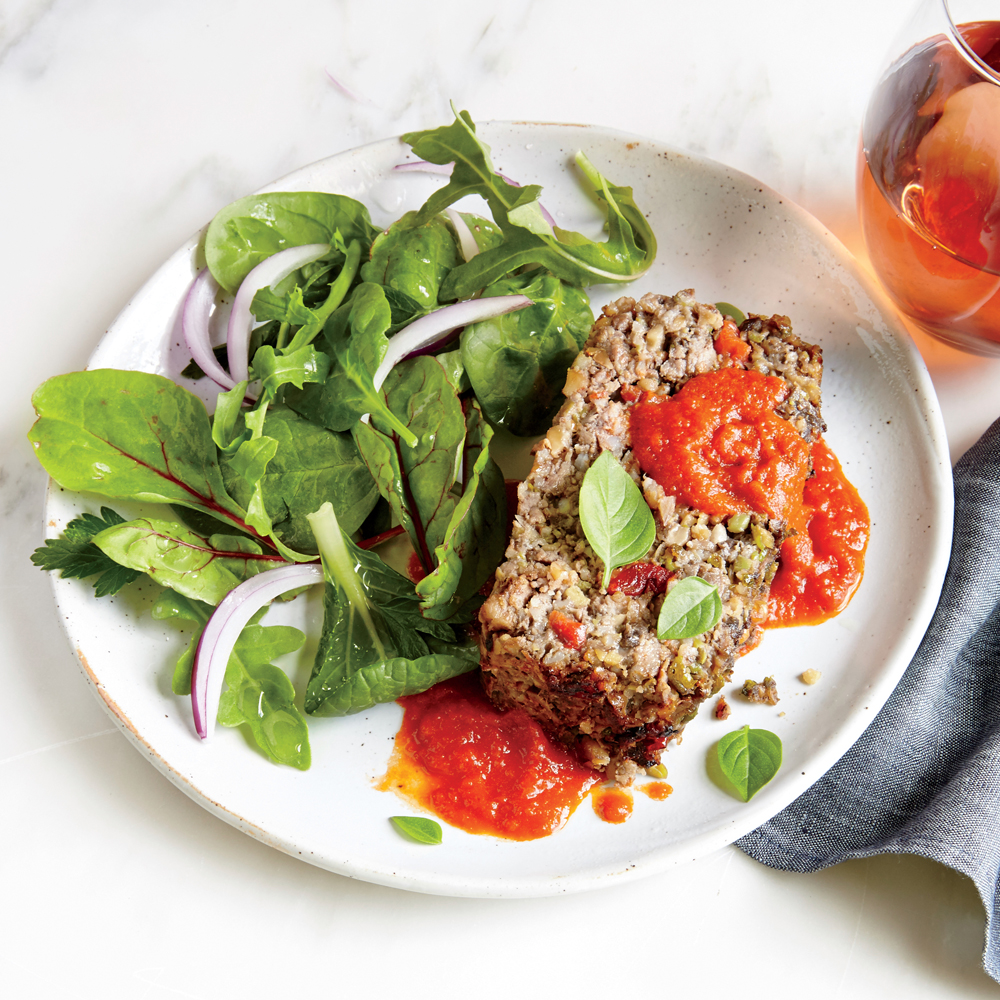 Veggie-Packed Meat Loaf