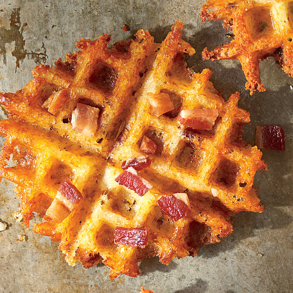 Waffled Bacon & Cheddar Grits