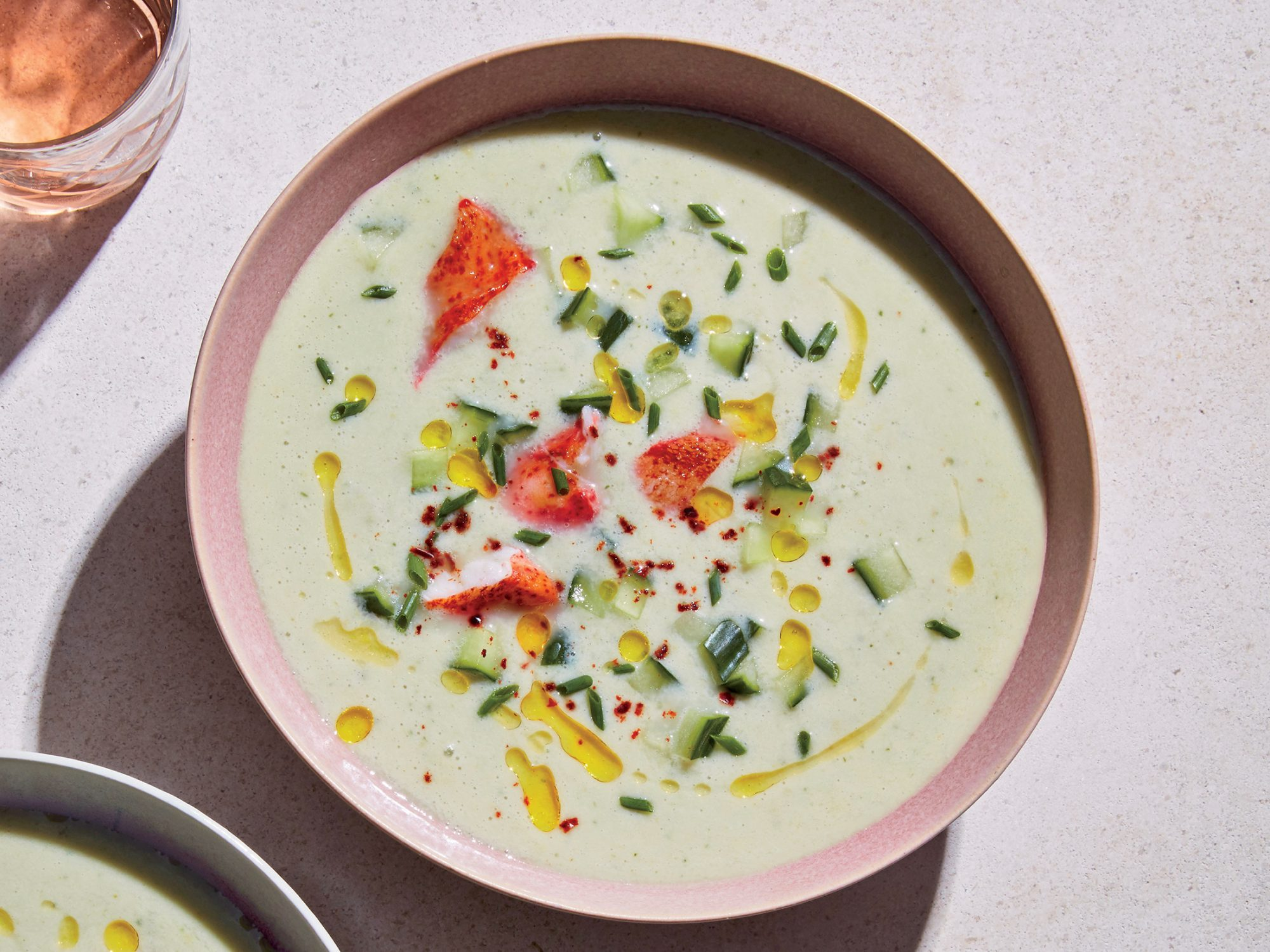 White Gazpacho with Lobster