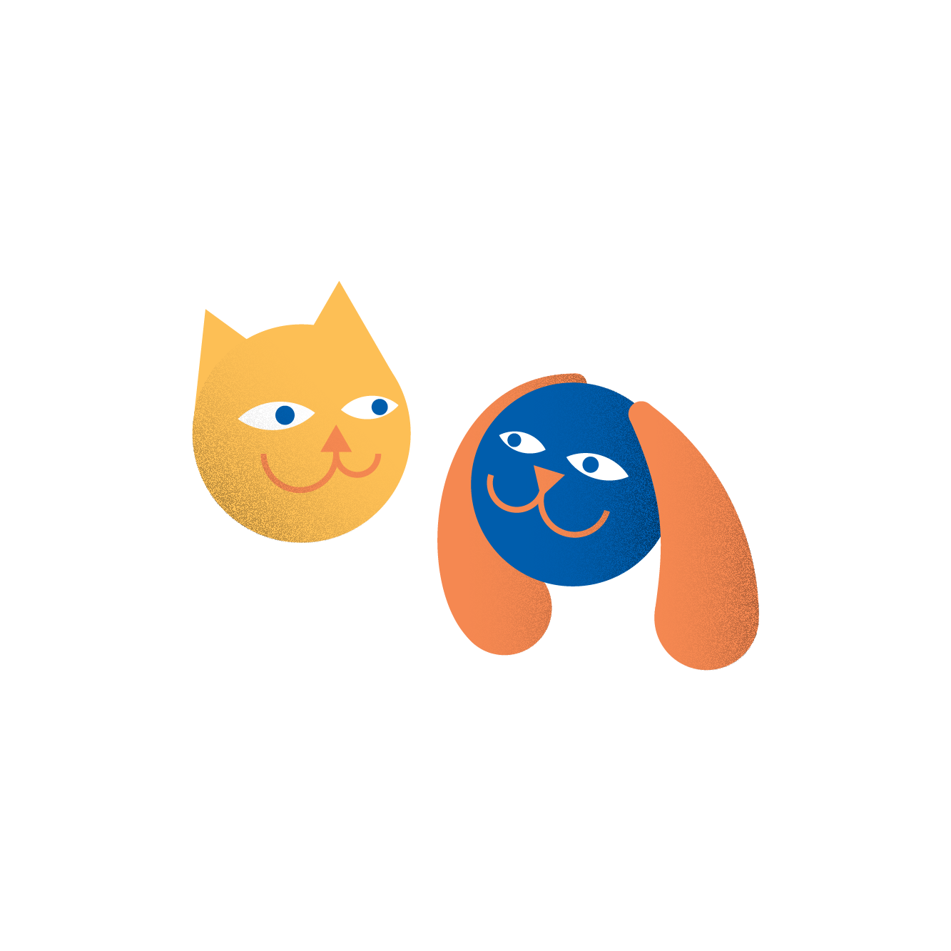 Illustration of a cat and a dog (26)