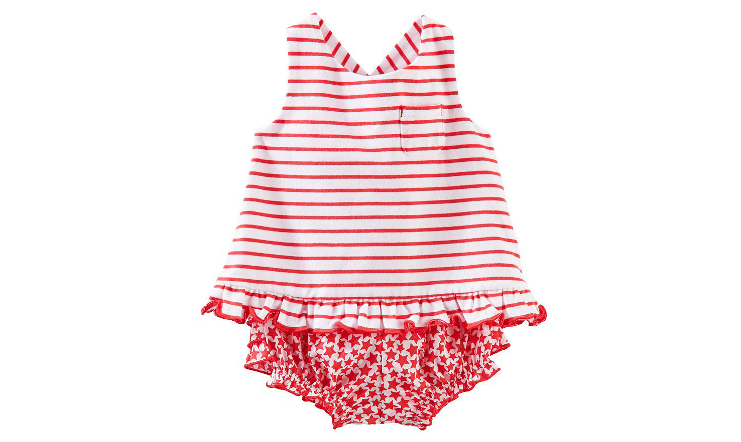 Striped Tank Top & Bloomers Set