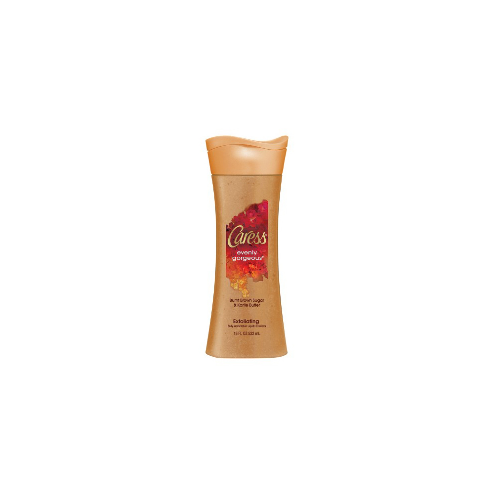 Caress Evenly Gorgeous Burnt Brown Sugar & Karite Butter Exfoliating Body Wash